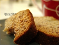 Sliced (Homemade) Banana Bread [with coffee]