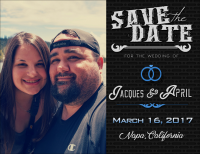 Save the Date magnet design, created for our wedding (obviously!)