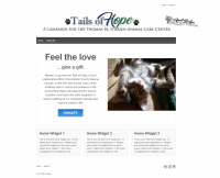 Website design for Tails of Hope, a collaborative effort of five animal rescue groups in Pennsylvania.