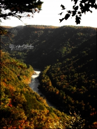 Farther view of the Gauley River.