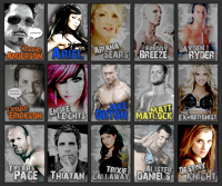 (A portion of) the avatars that I created for the wrestling roleplay forum.