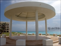 The gazebo where many of the weddings are held at this resort.