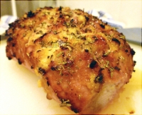 Pork Roast, with crushed garlic rub and italian seasonings.