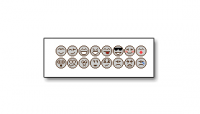 Set of grey forum emoticons.